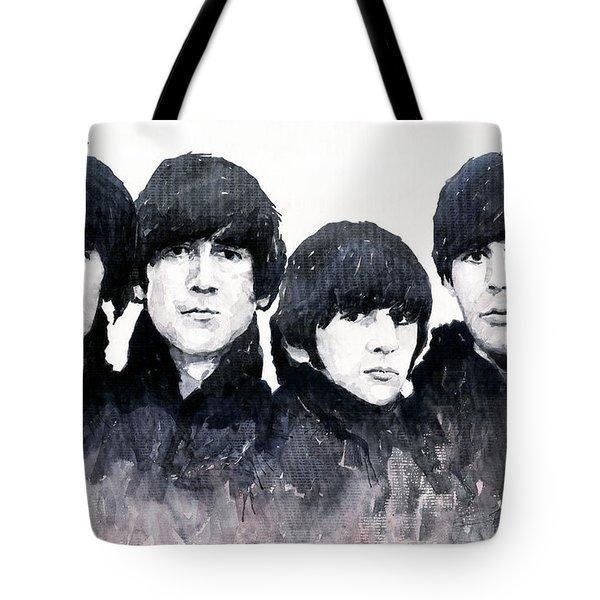 The Beatles Tote Bag by Yuriy  Shevchuk