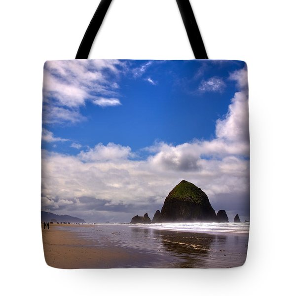 The Beautiful Cannon Beach Oregon Tote Bag by David Patterson