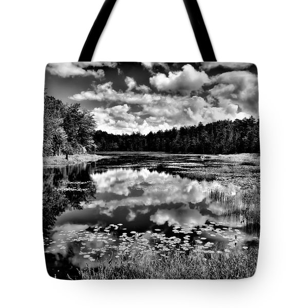 The Beautiful Fly Pond on Rondaxe Road - Old Forge NY Tote Bag by David Patterson