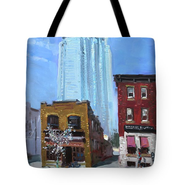 The Beauty N' The Background In London Canada Tote Bag by Ylli Haruni