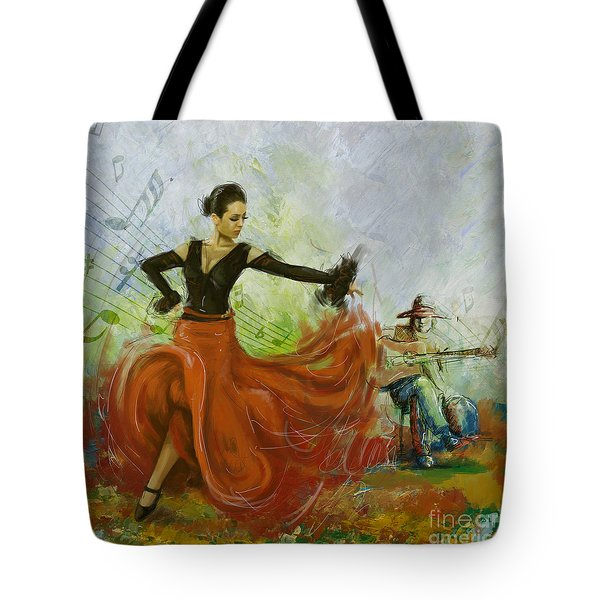 The Beauty Of Music And Dance Tote Bag by Corporate Art Task Force