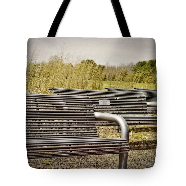 The Benches Tote Bag by Tom Gari Gallery-Three-Photography