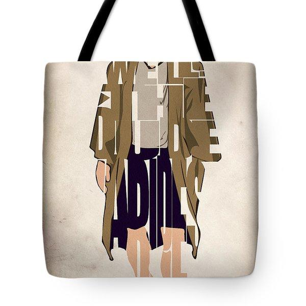 The Big Lebowski Inspired The Dude Typography Artwork Tote Bag by Ayse Deniz