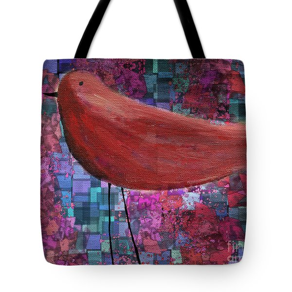 The Bird - 23a01a Tote Bag by Variance Collections