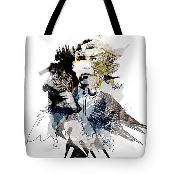 The Birdman Tote Bag by Aniko Hencz