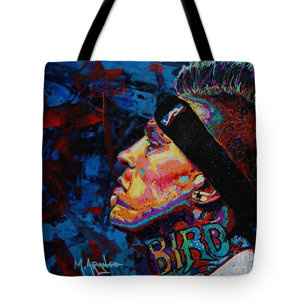 The Birdman Chris Andersen Tote Bag by Maria Arango