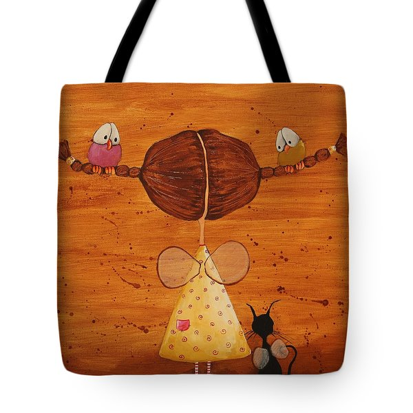 The birds love my hair Tote Bag by Lucia Stewart