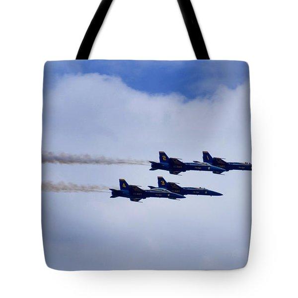 The Blue Angels Tote Bag by Benjamin Reed