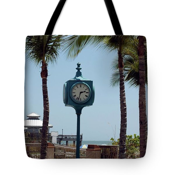 The Blue Clock Tote Bag by Kathleen Struckle