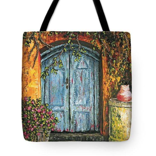 The Blue Door Tote Bag by Darice Machel McGuire