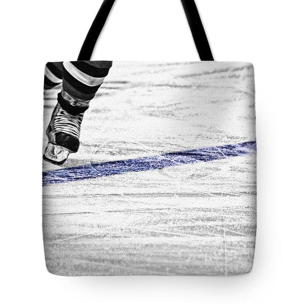 The Blue Line Tote Bag by Karol Livote