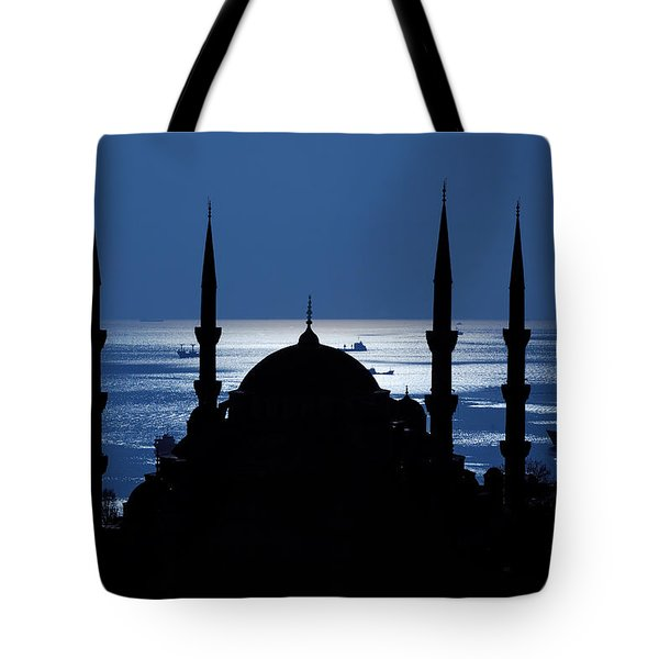 The Blue Mosque Tote Bag by Ayhan Altun