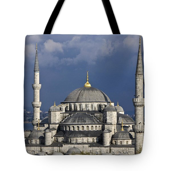 The Blue Mosque in Istanbul Tote Bag by Michele Burgess