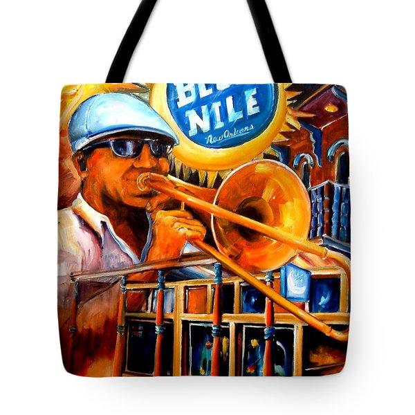 The Blue Nile Jazz Club Tote Bag by Diane Millsap