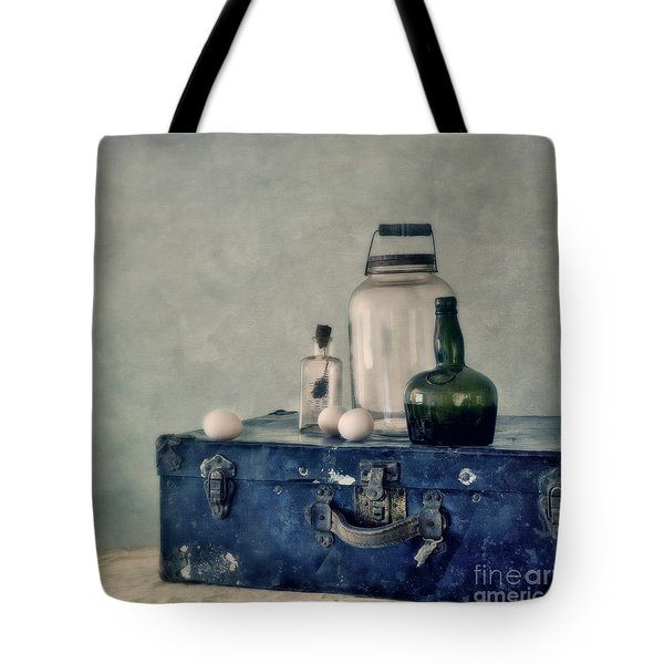 The Blue Suitcase Tote Bag by Priska Wettstein