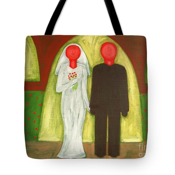 The Blushing Bride And Groom Tote Bag by Patrick J Murphy