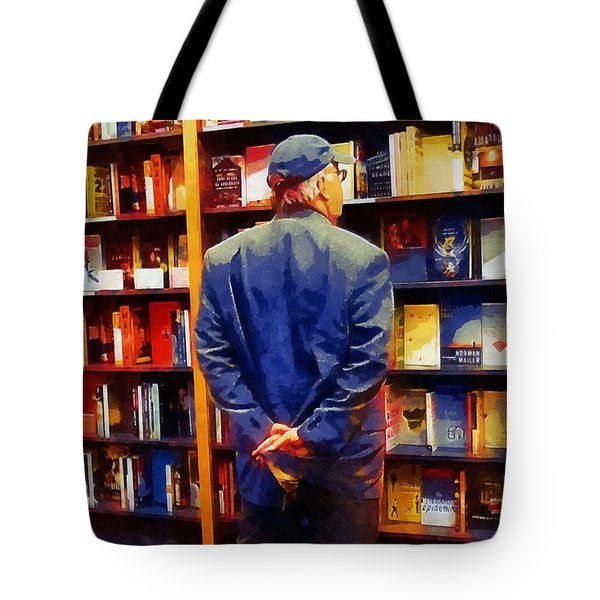 The Book Browser Tote Bag by RC deWinter