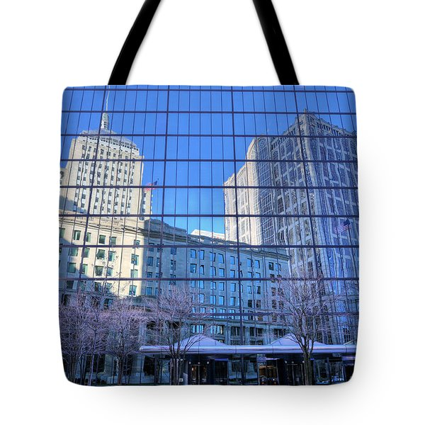 The Boston Skyline Tote Bag by JC Findley