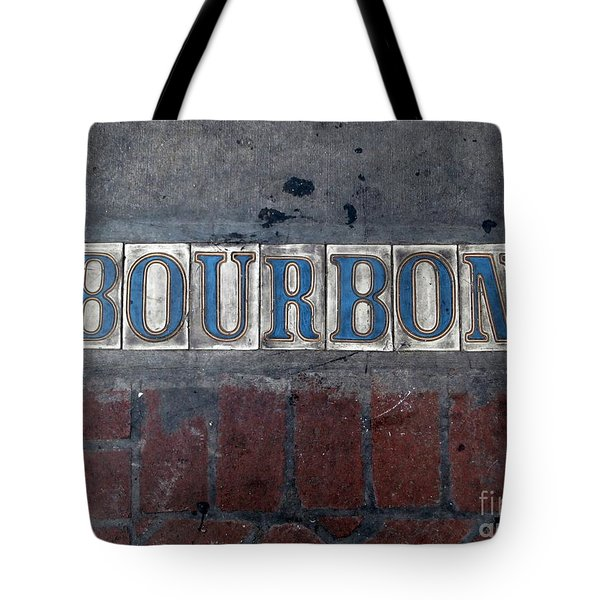 The Bourbon Street Sign Tote Bag by Joseph Baril