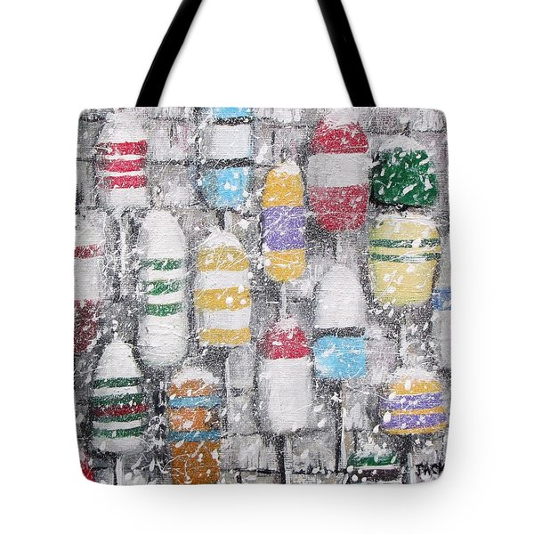 The Bouys were hung on the shack with care Tote Bag by Jack Skinner