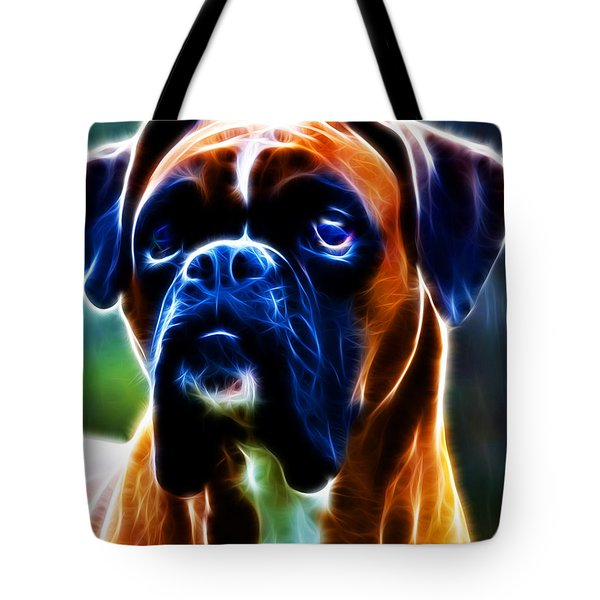 The Boxer - Electric Tote Bag by Wingsdomain Art and Photography