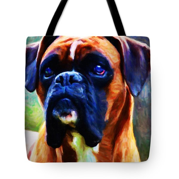 The Boxer - Painterly Tote Bag by Wingsdomain Art and Photography