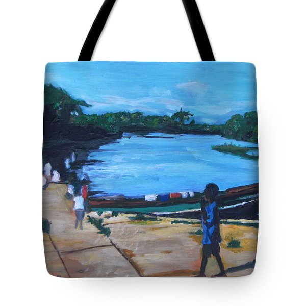 The Boy Porter  Sierra Leone Tote Bag by Mudiama Kammoh