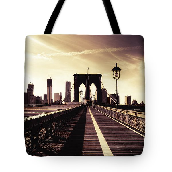 The Brooklyn Bridge - New York City Tote Bag by Vivienne Gucwa