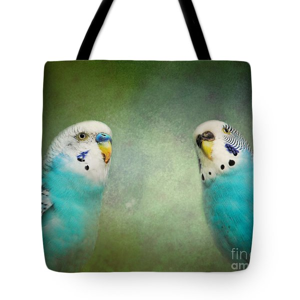 The Budgie Collection - Budgie Pair Tote Bag by Jai Johnson