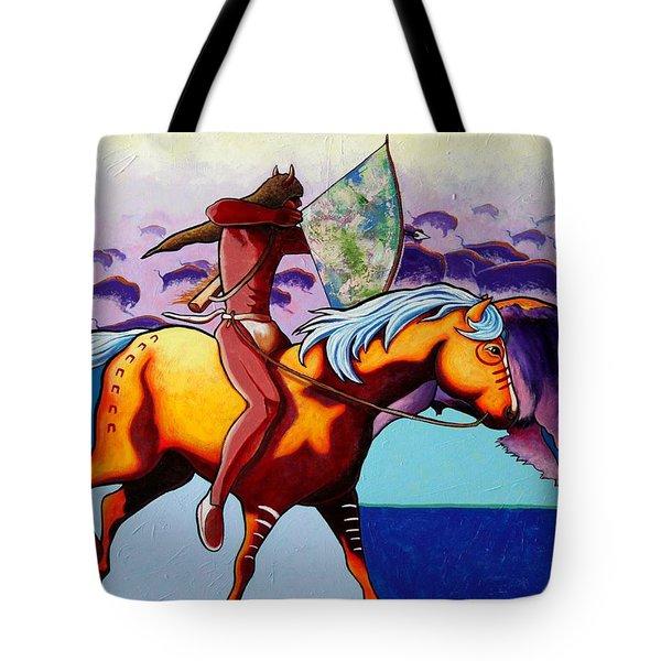 The Buffalo Hunter Tote Bag by Joe  Triano