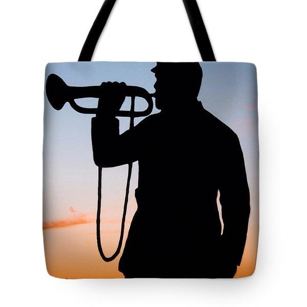The Bugler Tote Bag by Karen Lee Ensley