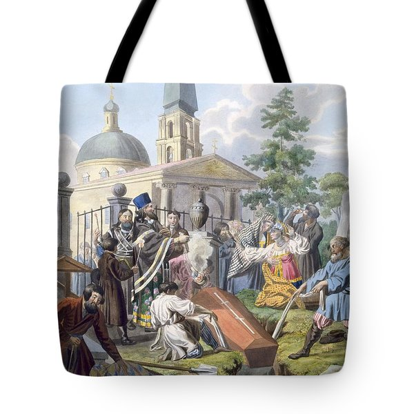 The Burial, 1812-13 Tote Bag by E. Karnejeff