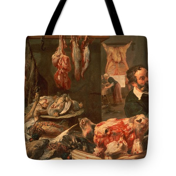 The Butcher's Shop Tote Bag by Frans Snyders