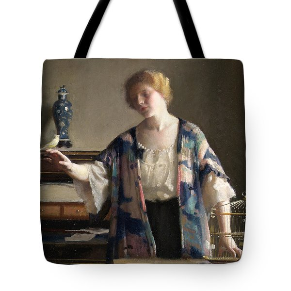 The Canary Tote Bag by William McGregor Paxson