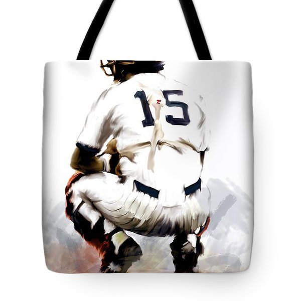 The Captain  Thurman Munson Tote Bag by Iconic Images Art Gallery David Pucciarelli