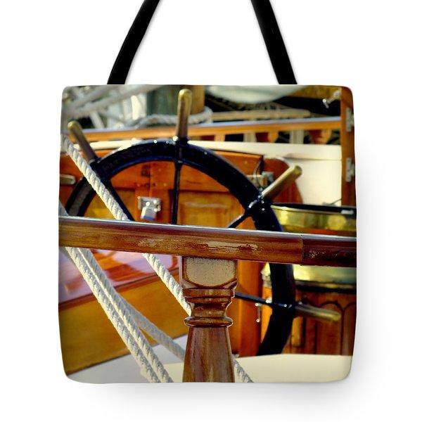 The Captain's Wheel Tote Bag by Karen Wiles