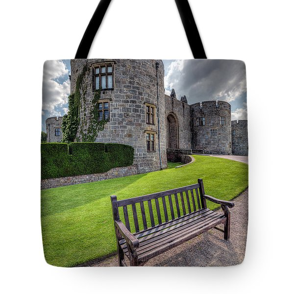 The Castle Bench Tote Bag by Adrian Evans