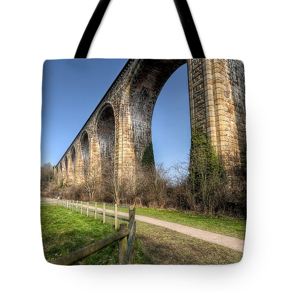 The Cefn Mawr Viaduct Tote Bag by Adrian Evans