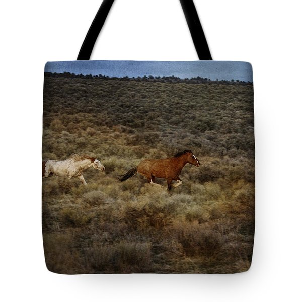 The Chase Is On D1215 Tote Bag by Wes and Dotty Weber