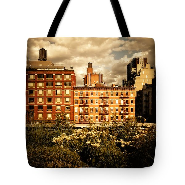 The Chelsea Skyline - High Line Park - New York City Tote Bag by Vivienne Gucwa