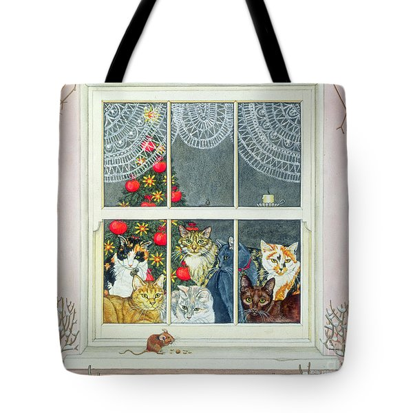 The Christmas Mouse Tote Bag by Ditz