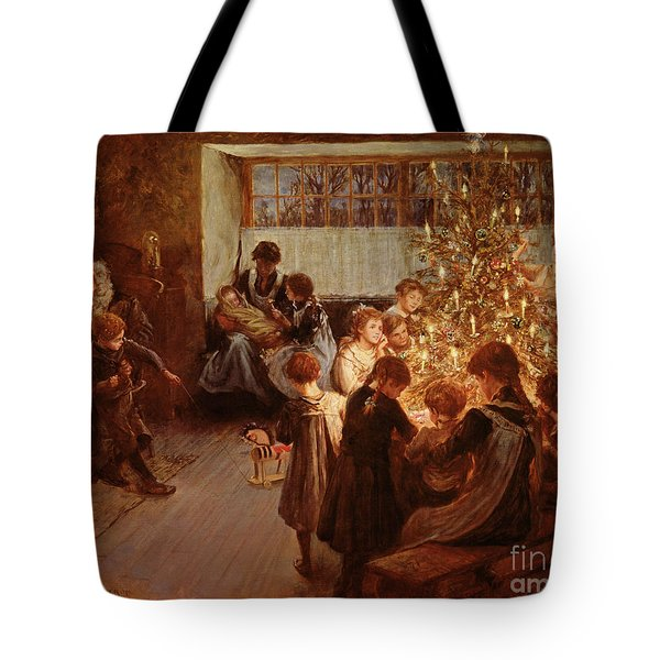 The Christmas Tree Tote Bag by Albert Chevallier Tayler