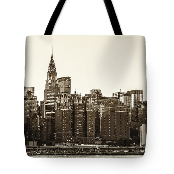 The Chrysler Building And New York City Skyline Tote Bag by Vivienne Gucwa