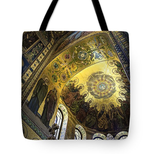 The Church Of Our Savior On Spilled Blood 2 - St. Petersburg - Russia Tote Bag by Madeline Ellis