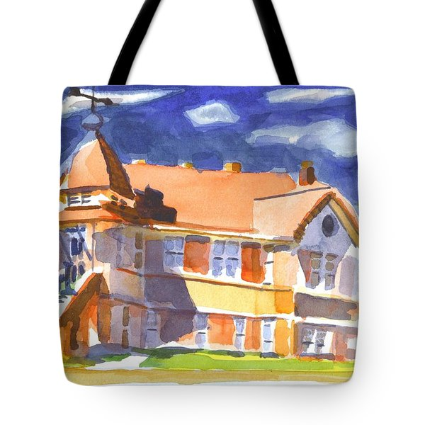 The Church On Shepherd Street II Tote Bag by Kip DeVore