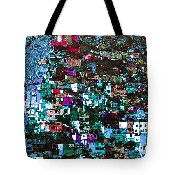 The City On The Hill V1p168 Square Tote Bag by Wingsdomain Art and Photography
