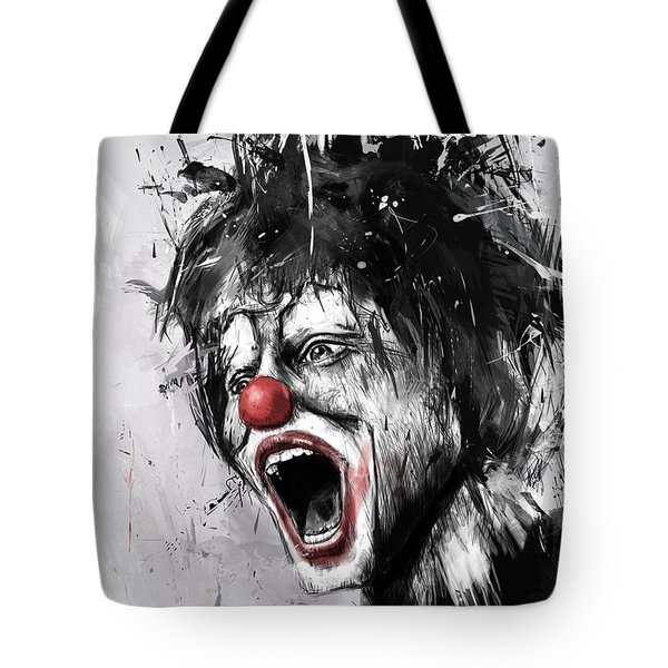 The Clown Tote Bag by Balazs Solti