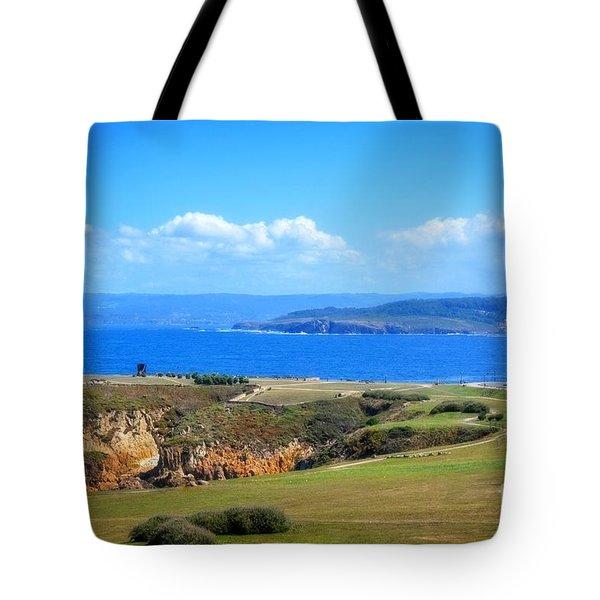 The Coast Of La Coruna Tote Bag by Mary Machare