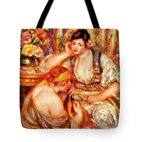 The Concert Tote Bag by Pierre Auguste Renoir