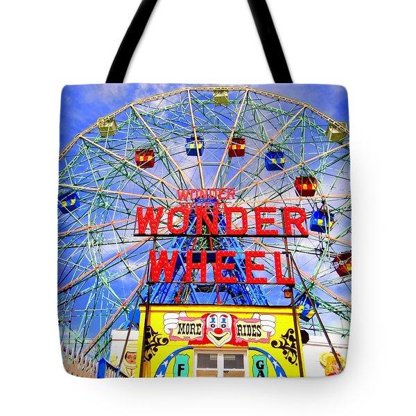 The Coney Island Wonder Wheel Tote Bag by Ed Weidman
